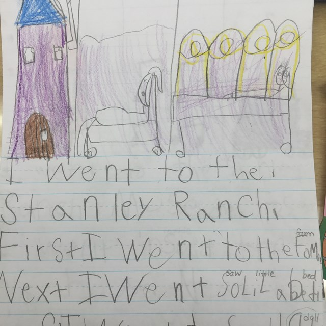 Student writes a personal narrative about Stanley Ranch.