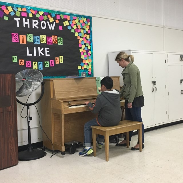 We encourage students to embrace the arts via art and piano lessons.